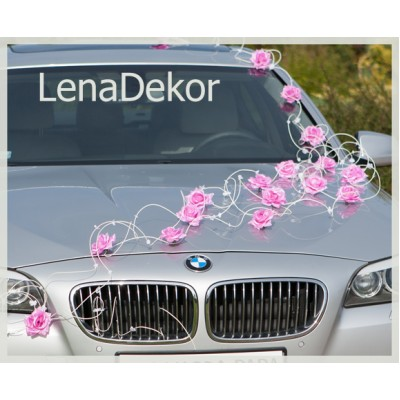 ELLA  PINK   car decoration for wedding prom  birthday and other special occasions   /Lena collection/