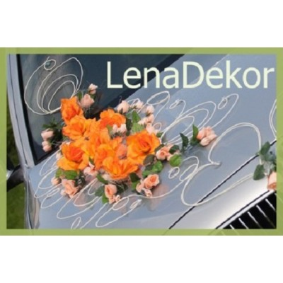 ESTER ORANGE   car decoration for wedding prom  birthday and other special occasions   /Lena collection/