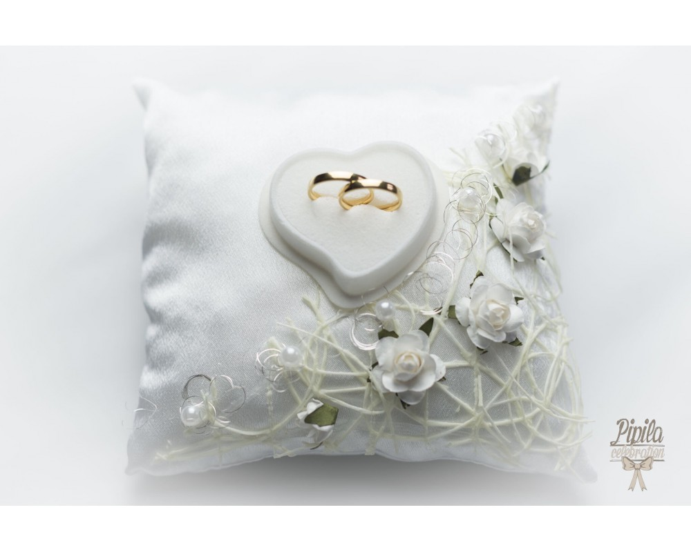 gilly lace pillow by product original ring notonthehighstreet gray wedding gillygray com