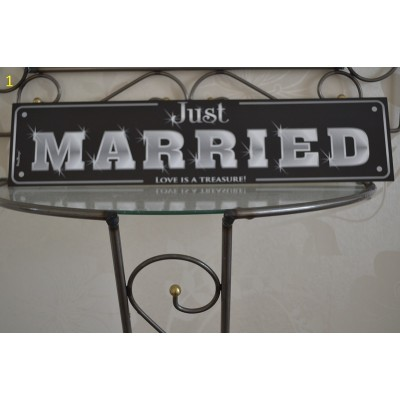 wedding registration plate no1  JUST MARRIED