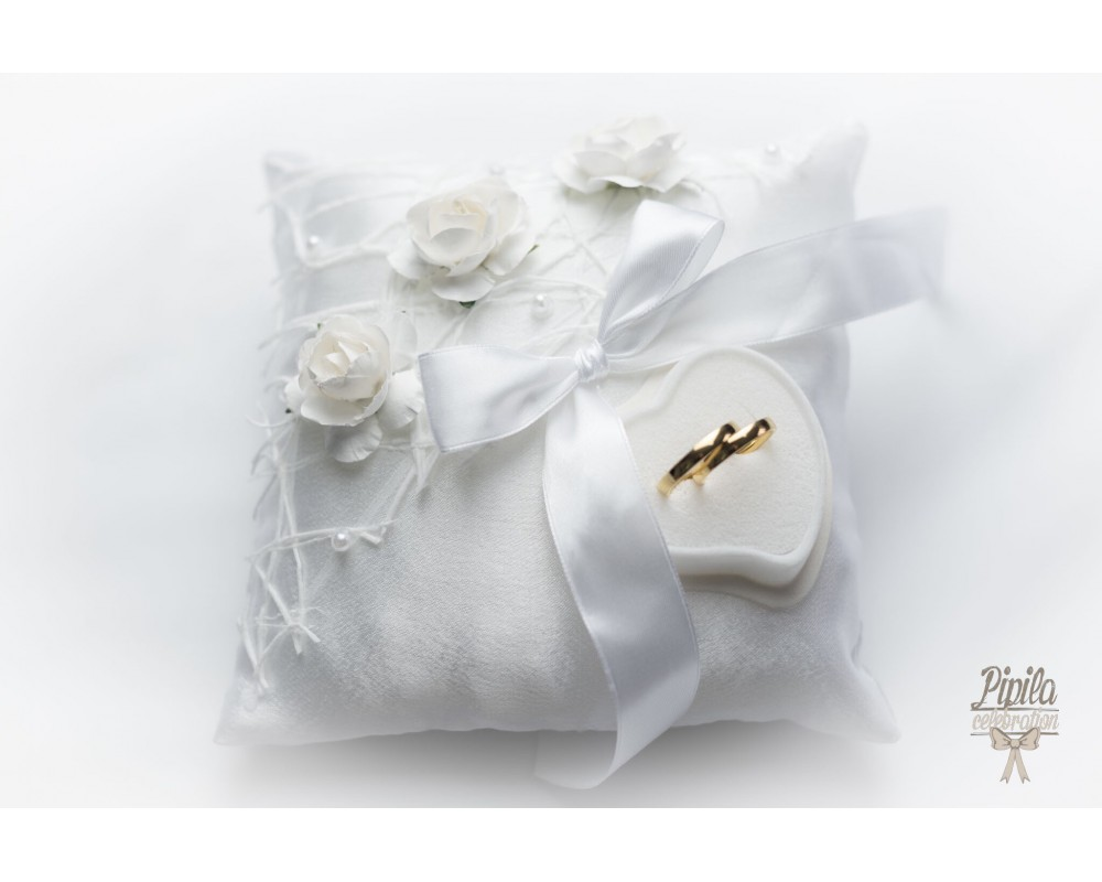 flower white com pillow tinksky inch dp faux amazon improvement pearls ribbons pure with home ring wedding buds bearer decor