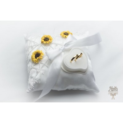 wedding ring pillow, cushion, engagement ring holder , sunflowers P13